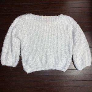 POL Sweaters - POL white fuzzy oversized sweater